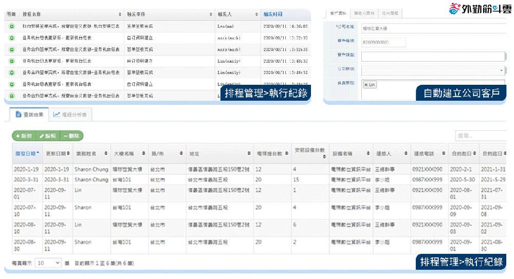 排程管理執行紀錄及結果